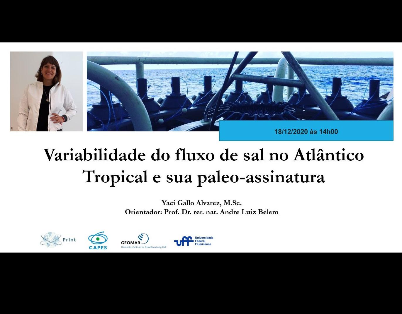 Palestra de Retorno ao Brasil – Bolsista CLIMATE-Print
